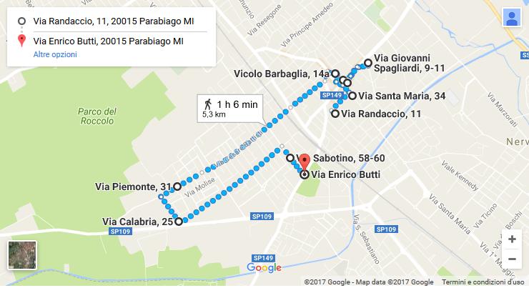 Percorso del Maggiolini: corri attraverso la storia di Parabiago [5,5 Km]