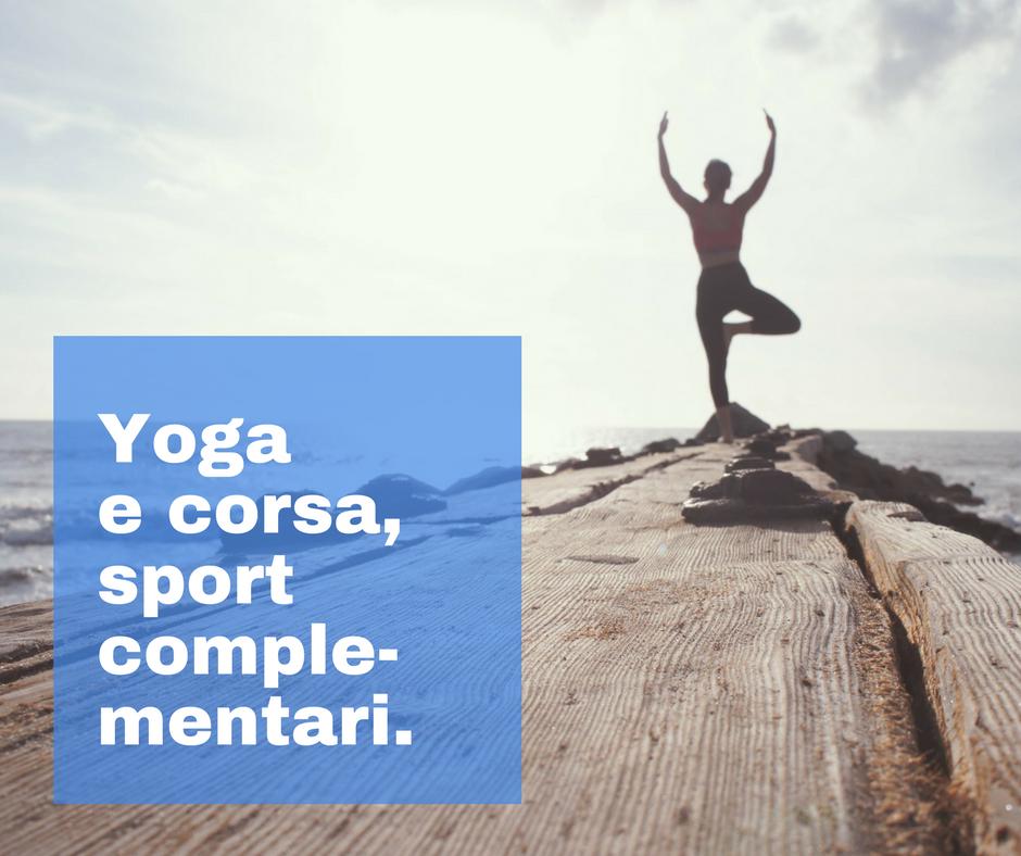yoga e corsa sono sport complementari.