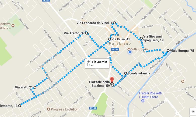 Percorso artistico: una corsa tra i murales di Parabiago [7,5 Km]